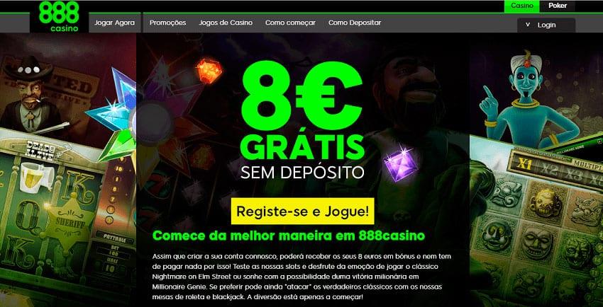 bónus sem depósito 888 casino